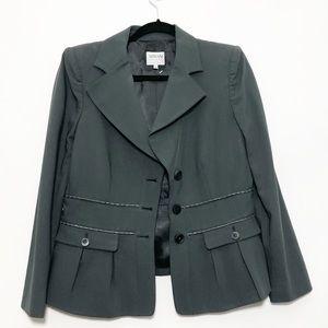 Armani Collezioni Gray Blazer Jacket Sz 10